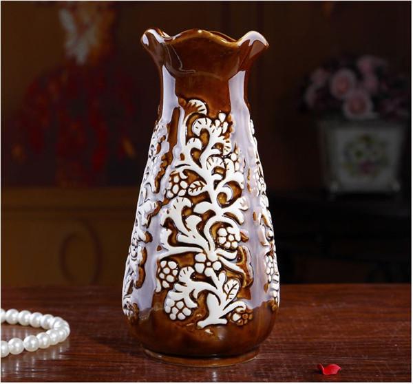欧式复古简约陶瓷小花樽
